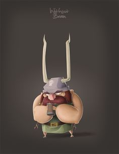 GRUMPY VIKING - PROCESS by Daniel Romero - WithoutBrain, via Behance