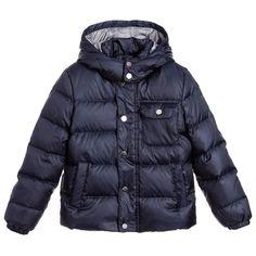 Trussardi - Boy Navy Blue Down Padded Jacket | Childrensalon