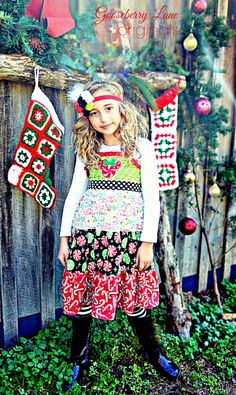 Candy Lane Minnie Disney Dress - GBL Originals Holiday Collection