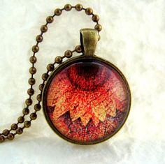 Vintage Sunflower Pendant Necklace by ExpressioneryPendant on Etsy, $6.50