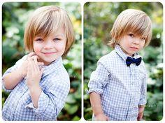 Little boy haircut idea for my son's long hair.