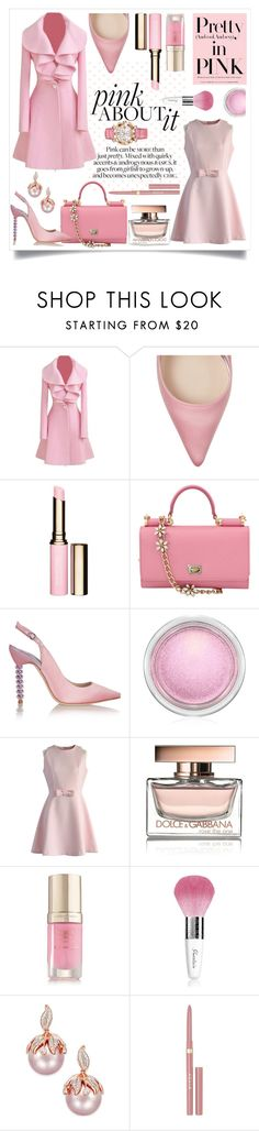 """Pink About It!"" by shaheenk on Polyvore featuring Sophia Webster, Clarins, Dolce&Gabbana, MAC Cosmetics, Chicwish, Margaret Dabbs, Guerlain, Stila, Chopard and chic"