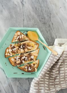 Chocolate Almond Coconut Toast
