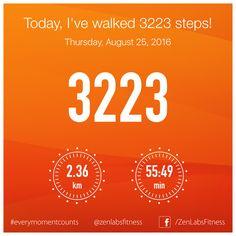 Thursday, August 25, 2016 - 3223 steps