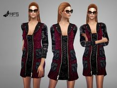 MFS Gracy Jacket by MissFortune at TSR via Sims 4 Updates