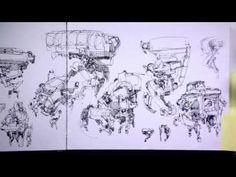 John Park's sketchbooks: part 2 - YouTube