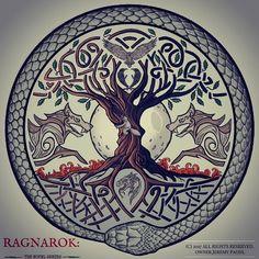 Official Logo for RAGNAROK: The Novel Series Look ... - #logo #Official #RAGNAROK #Series