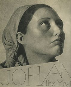 """William Mortensen, Johan the Mad """"By her crazy tragic journey through the kingdoms of Europe, bearing with her the corpse of her beloved husband, she has come to be a symbol and prototype of the tortured quest for something irrevocably lost."""" --Mortensen"""