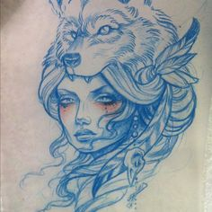 Image result for wolf headdress drawing