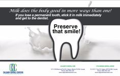 Milk does the body good in more ways than one  #DentistCalgary