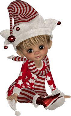 Tube cookie lutin, hiver - png - Poser doll - Posertuben