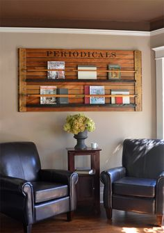 This unique bookshelf will add character to your office, den, or family room. Made from a vintage door, this unique piece holds books and magazines.