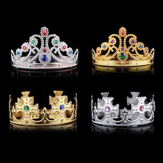 Boys Girls Children Kids Princess King Led Crown Happy Birthday Party Hats Fancy New Headwear 2018 New Outstanding Features Girls' Clothing Mother & Kids