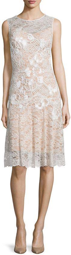 CLICK THE LINK TO BUY IT NOW! http://api.shopstyle.com/action/apiVisitRetailer?id=495134691&pid=uid1156-32722466-54 Jenny Packham Floral-Applique Lace Cocktail Dress, Lunar