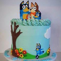 Baby Girl Birthday Cake, 3rd Birthday Cakes, Dog Birthday, 4th Birthday Parties, Birthday Ideas, Cake Icing, Cake Decorating, Birthdays, Bingo