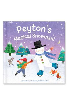 """'My Magical Snowman' is a heartwarming personalized storybook that will make your child feel even more loved this holiday. The magic starts when forest creatures come together to build a special snowman friend just for your child. When your child reaches out for a hug, Snowman comes alive! The two winter friends sled, skate, make snow angels, laugh and play together in utter delight. Snowman tells your child that he or she is """"unique as a snowflake"""" and that your child's love is the magic that f Holiday Gift Guide, Holiday Gifts, Christmas Gifts, Christmas Christmas, Christmas Recipes, Holiday Ideas, Christmas Decorations, Personalized Books For Kids, Personalized Gifts"""