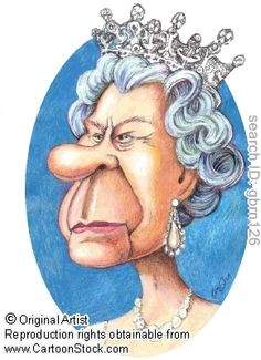 The Queen Caricature by Gary Brown