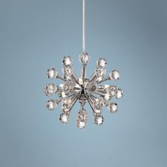 """out of stock call CSR Dave (800-782-1968) at x 4544  Type F Possini Euro Cassiopeia 8 1/2"""" Wide Crystal Pendant Light - #2R896   LampsPlus.com"""