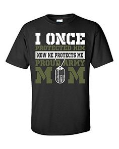 I Once Protected Him Now He Protects Me Proud Army Mom - Unisex Tshirt Black XL Super Fan Shirts http://www.amazon.com/dp/B010A2VU5Q/ref=cm_sw_r_pi_dp_PGW4vb19X860S