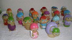 1980s Playskool Lot of 19 Glo Worms Glow Figures