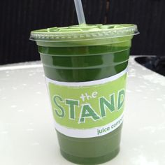 """Become a Green Godess with a  """"Greenie""""!  Kale, collard, cuke, celery, lemon, lime and ginger.   (from """"The Stand"""", Norwalk, CT)"""