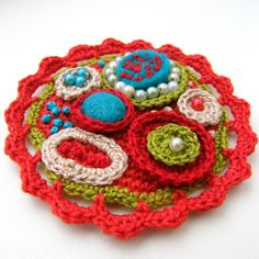 MIXED MEDIZ BROOCH - ROCK POOL | Flickr - Photo Sharing!