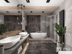All things linked to bathroom suggestions such as tricks and tips for organizing bathroom, master bathroom cleaning tips, interior decor projects and much more. Bathroom Design Luxury, Home Interior Design, Interior Modern, Interior Ideas, Interior Inspiration, Dream Bathrooms, Spa Bathrooms, Luxury Bathrooms, Master Bathroom