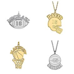 Custom charms for your athlete.  From $115.00 Gayle's Jewelers Bogalusa, LA