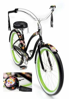 Another example of Sugar Skullz bike covered with skulls and skulls bell