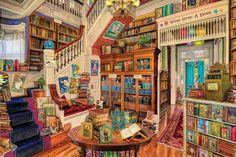 NEW White Mountain Readers Paradise Endless Bookshop 1000 Piece Jigsaw Puzzle Ghibli, 300 Piece Puzzles, Puzzle Pieces, Puzzle Ravensburger, Wooden Jigsaw Puzzles, Puzzle 1000, Cozy Nook, White Mountains, Fun Challenges