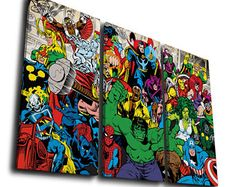 Avengers Hulk Super Hero Painting Printed on Canvas Wall Art Picture Home Décor, Contemporary Artwork, Split Canvases, Birthday Gift
