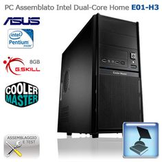 "Assembled PC Intel Dual-Core Home ""E01-H3""  CASE: Cooler Master Elite 342; PSU: Spire BlackEagle 650W; HDD:Western Digital Caviar Blu 1TB; CPU: Intel Pentium Dual-Core G645; RAM:G.Skill Ripjaws-X F3-10666CL9D-8GBXL 1333MHz 8GB; MB:Asus P8B75-M LX; VGA: integrated; http://www.e-key.it/prod-pc-assemblato-intel-dual-core-home-e01-h3-36618.htm"