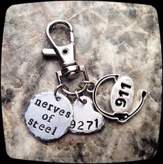 911 Dispatcher GIFT Keychain or Necklace Gift 911 by ThatKindaGirl