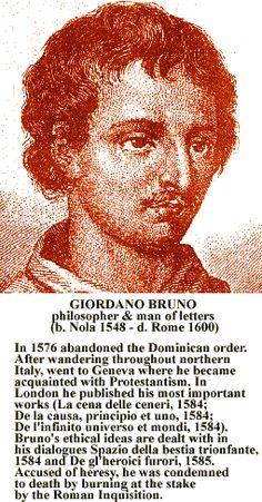 """Homo Holisticus: Philosoph Giordano Bruno, """"Buddha des Westens"""""""