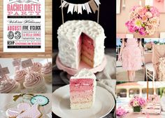 Bachelorette Party-maybe I could make another pink/rainbow cake
