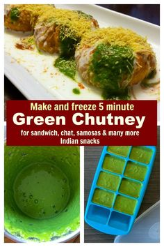 Learn how to make the best green chutney for sandwiches, chat, parathas,  dosas and more at home under 5 minutes. Variations included. #dip #indian #chutney