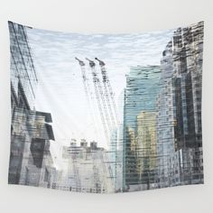"WALL TAPESTRY	/ LARGE: 88"" X 104""  Marianna Tankelevich (mariannatankelevich) dream city by Marianna Tankelevich"