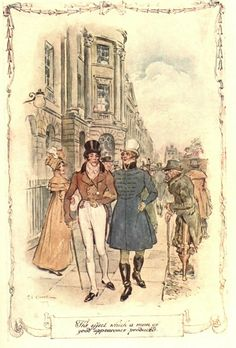 The effect which a man of good appearance produced - Jane Austen's Persuasion, 1909 Illustrations, Book Illustration, Jane Austen Novels, Becoming Jane, Regency Era, Pride And Prejudice, Art Model, Vintage Photographs, Book Art