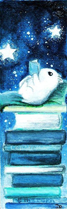 """El que lee mucho y anda mucho, ve mucho y sabe mucho"""". Miguel de Cervantes. Ilustración: Hamster lector, por Avantalia"""