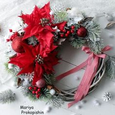 """Вінок """"Різдвяна ніч"""" Handmade Decorations, Christmas Wreaths, Holiday Decor, Home Decor, Decoration Home, Room Decor, Home Interior Design, Home Decoration, Handmade Ornaments"""