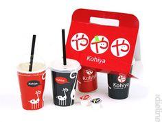 Packaging from Kohiya - Japanese café in Singapore