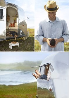 Road-trip honeymoon in a revamped vintage Airstream. Aww, to be young and in love...