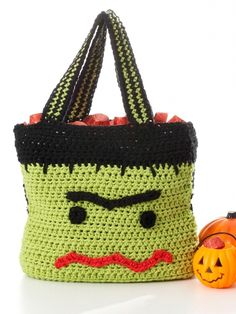Monster Trick or Treat Bag | Yarn | Free Knitting Patterns | Crochet Patterns | Yarnspirations