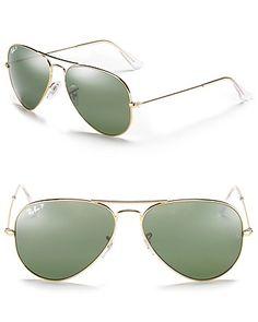 Ray-Ban Polarized Classic Aviator Sunglasses