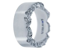 who needs two rings when you can get one a beautiful band such as this;)