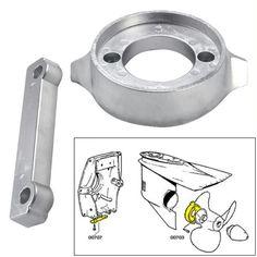 Tecnoseal Anode Kit w-Hardware - Volvo 280 - Magnesium