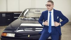 Ferrari 400, Lapo Elkan founder of Italian Independent and his 400i. His grandfather Gianni Agnelli owned a 412