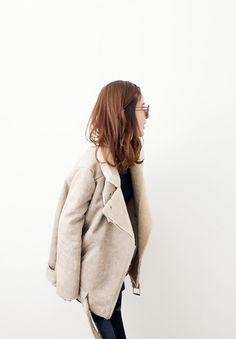 Cream Jacket and Jeans \ Korean Fashion
