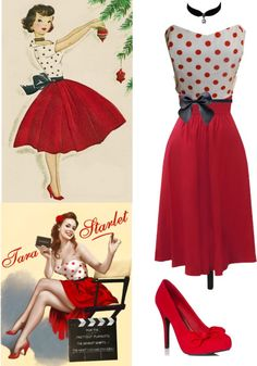 """Classic Pin-Up Outfit"" by emmaaime on Polyvore"