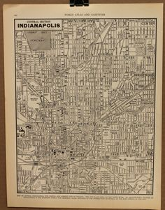 Hey, I found this really awesome Etsy listing at https://www.etsy.com/listing/98417345/vintage-map-indianapolis-indiana-1935